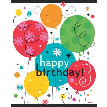 8 Pochettes cadeaux Happy Birthday Ballons