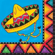 20 Serviettes Mexican Party