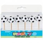 6 Bougies pics Ballons de foot