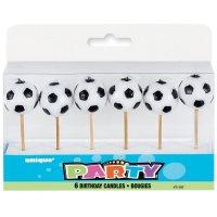 Contient : 1 x 6 Bougies pics Ballons de foot