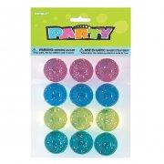 12 Balles rebondissantes couleurs pailletées
