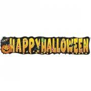 Bannière géante Happy Halloween Citrouille Joyeuse