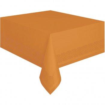 Nappe Orange Papier doublée plastique