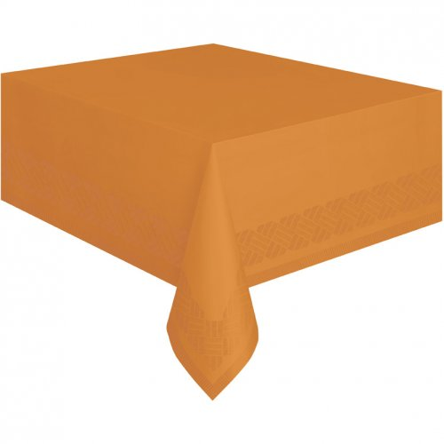 Nappe Orange Papier doublée plastique