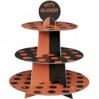 Pr�sentoir � cupcakes � pois Noir/Orange