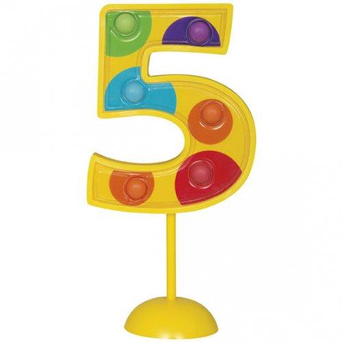 Grand chiffre clignotant décoratif n°5