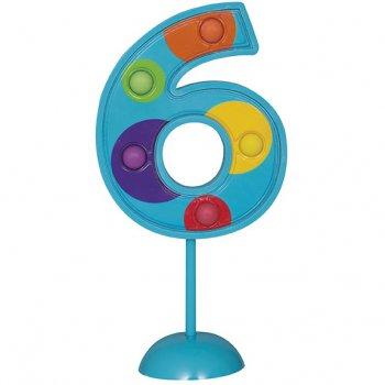 Grand chiffre clignotant décoratif n°6