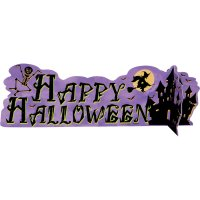 Contient : 1 x Centre de Table Happy Halloween Château Hanté