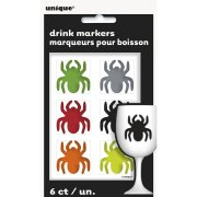 6 Stickers de Verre Araignée