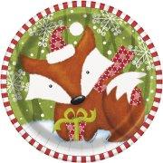 8 Assiettes Animaux Noël