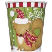8 Gobelets Animaux Noël