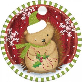 8 Petites Assiettes Animaux Noël