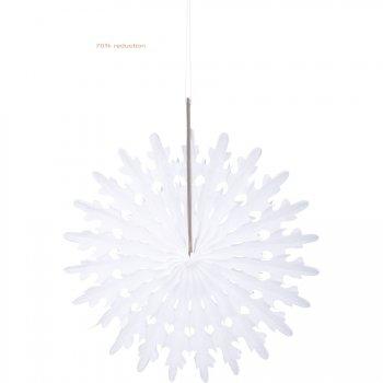 1 Petit Eventail Déco Flocon de Neige Blanc (13 cm)