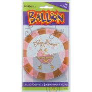 Ballon � Plat Baby Shower fille
