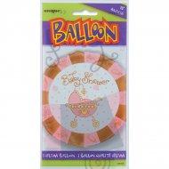 Ballon à Plat Baby Shower fille