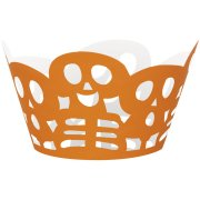 12 Wrappers � Cupcakes Squelettes Orange