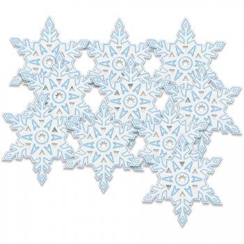 10 Flocons de Neige Décoratifs