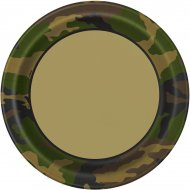 8 Assiettes Camouflage