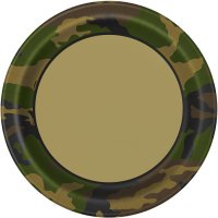 Contient : 1 x 8 Assiettes Camouflage
