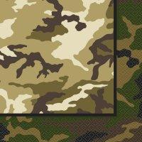 Contient : 1 x 16 Serviettes Camouflage
