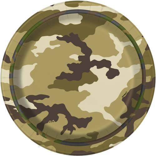8 Petites Assiettes Camouflage