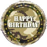 Ballon Gonflé à l'Hélium Camouflage