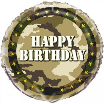 Ballon Hélium Camouflage