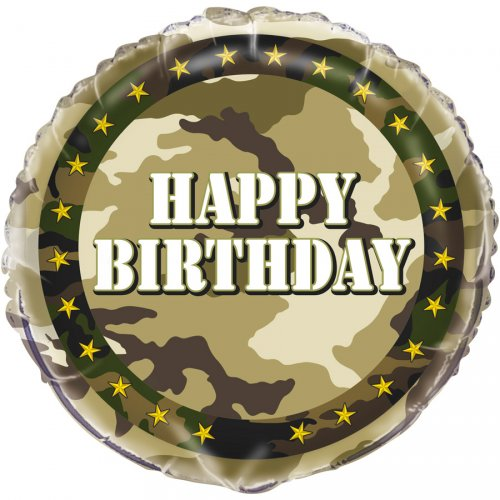 Ballon Gonflé à l Hélium Camouflage