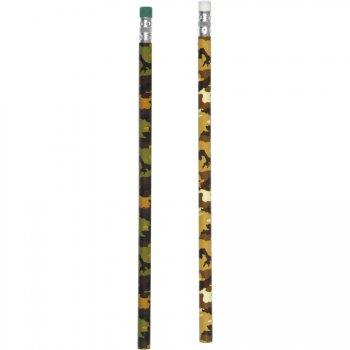 12 Crayons à papiers Camouflage