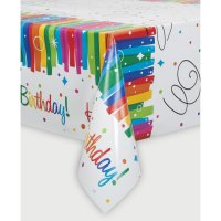 Contient : 1 x Nappe Happy Birthday Rainbow