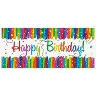 Bannière Happy Birthday Rainbow