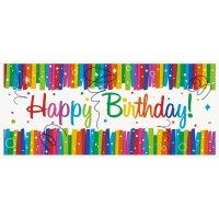 Contient : 1 x Bannière Happy Birthday Rainbow