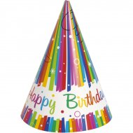 8 Chapeaux Happy Birthday Rainbow