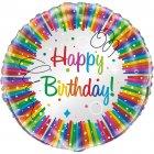 Ballon � Plat Happy Birthday Rainbow