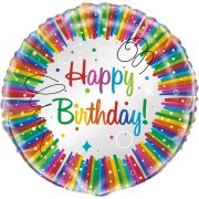Ballon à Plat Happy Birthday Rainbow