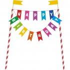 Kit D�cors � G�teau Happy Birthday Rainbow