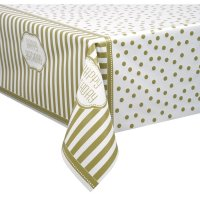 Contient : 1 x Nappe Happy Birthday Gold