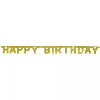 Bannière Happy Birthday Or