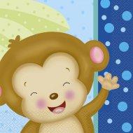 16 Serviettes Ouistiti Baby Boy