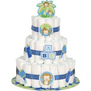 Kit d�corations Diaper Cake Ouistiti Baby Boy