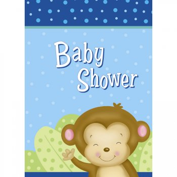 8 Invitations Baby Shower Ouistiti Baby Boy