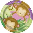 8 Petites Assiettes Ouistiti Baby Girl