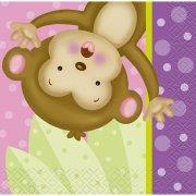 16 Petites Serviettes Ouistiti Baby Girl