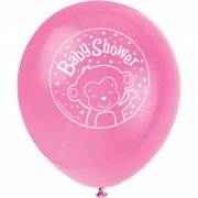 8 Ballons Ouistiti Baby Girl