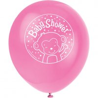 Contient : 1 x 8 Ballons Ouistiti Baby Girl