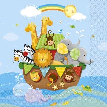 16 Serviettes l Arche de Noé