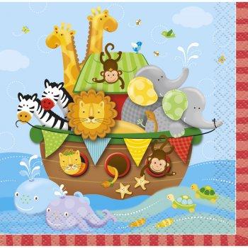 16 Petites Serviettes l Arche de Noé