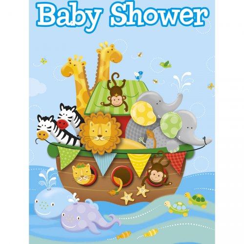 8 Invitations Baby Shower l Arche de Noé