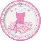 8 Assiettes Pink Ballerine