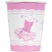 8 Gobelets Pink Ballerine